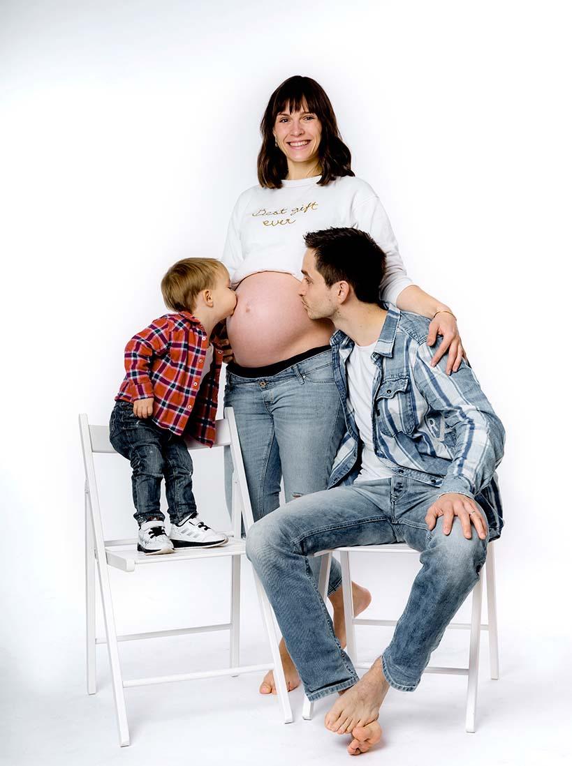 schwangerschaftsfoto mit partner